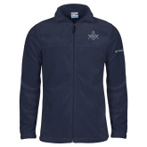 Columbia Full Zip Navy Fleece Jacket-Square and Compass with G