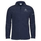 Columbia Full Zip Navy Fleece Jacket-Not Just A Man A Mason