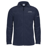 Columbia Full Zip Navy Fleece Jacket-Scottish Rite Wordmark