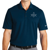 Nike Golf Dri Fit Navy Micro Pique Polo-Square and Compass with G