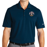 Nike Golf Dri Fit Navy Micro Pique Polo-Spes Mea In Deo Est