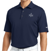 Nike Golf Tech Dri Fit Navy Polo-Square and Compass with G