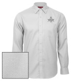 Red House White Diamond Dobby Long Sleeve Shirt-Square and Compass with G