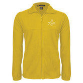 Fleece Full Zip Gold Jacket-Square and Compass with G