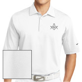 Nike Sphere Dry White Diamond Polo-Square and Compass with G