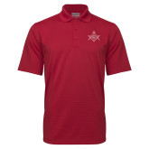 Cardinal Mini Stripe Polo-Square and Compass with G