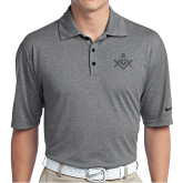 Nike Golf Dri Fit Charcoal Heather Polo-Square and Compass with G