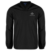 V Neck Black Raglan Windshirt-Not Just A Man A Mason