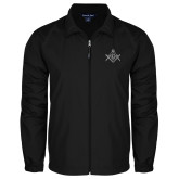 Full Zip Black Wind Jacket-Square and Compass with G