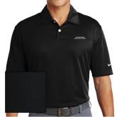 Nike Dri Fit Black Pebble Texture Sport Shirt-Scottish Rite Wordmark