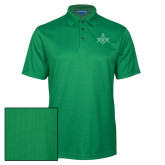 Kelly Green Performance Fine Jacquard Polo-Square and Compass with G