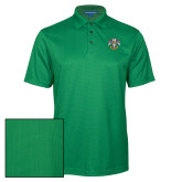 Kelly Green Performance Fine Jacquard Polo-Spes Mea In Deo Est