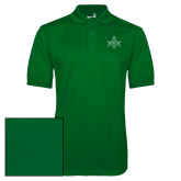 Kelly Green Dry Mesh Polo-Square and Compass with G