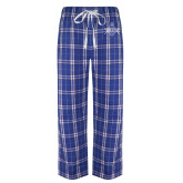 Royal/White Flannel Pajama Pant-Square and Compass with G