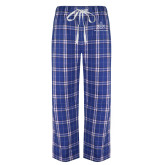 Royal/White Flannel Pajama Pant-Not Just A Man A Mason