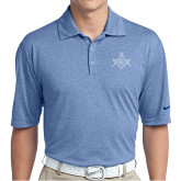 Nike Golf Dri Fit Royal Heather Polo-Square and Compass with G