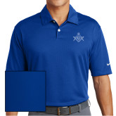 Nike Dri Fit Royal Pebble Texture Sport Shirt-Square and Compass with G
