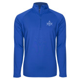 Sport Wick Stretch Royal 1/2 Zip Pullover-Square and Compass with G
