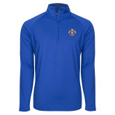 Sport Wick Stretch Royal 1/2 Zip Pullover-Spes Mea In Deo Est