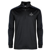Nike Golf Dri Fit 1/2 Zip Black/Royal Pullover-Square and Compass with G