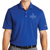 Nike Golf Dri Fit Royal Micro Pique Polo-Square and Compass with G
