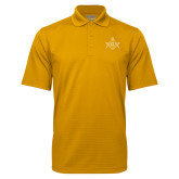Gold Mini Stripe Polo-Square and Compass with G