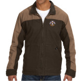 DRI DUCK Horizon Field Khaki/Tobacco Canvas Jacket-Freemasons