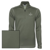 Nike Sphere Dry 1/4 Zip Olive Khaki Pullover-Square and Compass with G