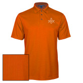 Orange Performance Fine Jacquard Polo-Square and Compass with G