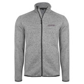 Grey Heather Fleece Jacket-Scottish Rite Wordmark