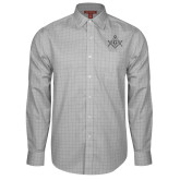 Red House Grey Plaid Long Sleeve Shirt-Square and Compass with G