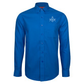 Red House French Blue Long Sleeve Shirt-Square and Compass with G