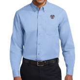 Light Blue Twill Button Down Long Sleeve-Spes Mea In Deo Est