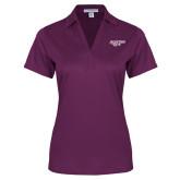 Ladies Purple Performance Fine Jacquard Polo-Scottish Rite