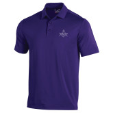 Under Armour Purple Performance Polo-Square and Compass with G