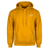 Gold Fleece Hoodie-Square and Compass with G