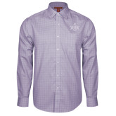 Red House Purple Plaid Long Sleeve Shirt-Square and Compass with G