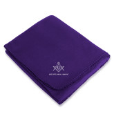 Purple Arctic Fleece Blanket-Not Just A Man A Mason