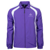 Colorblock Purple/White Wind Jacket-Not Just A Man A Mason