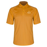 Gold Dri Mesh Pro Polo-Square and Compass with G