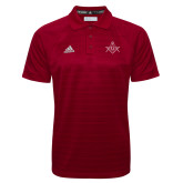 Adidas Climalite Cardinal Jacquard Select Polo-Square and Compass with G