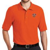 Orange Easycare Pique Polo-Spes Mea In Deo Est