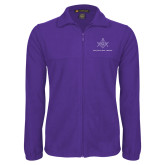 Fleece Full Zip Purple Jacket-Not Just A Man A Mason