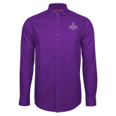 Red House Purple Long Sleeve Shirt-Square and Compass with G
