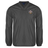V Neck Charcoal Raglan Windshirt-Freemasons