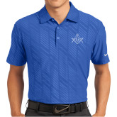 Nike Dri Fit Royal Embossed Polo-Square and Compass with G