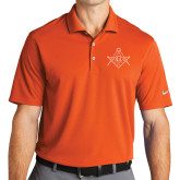 Nike Golf Dri Fit Orange Micro Pique Polo-Square and Compass with G