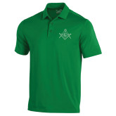 Under Armour Kelly Green Performance Polo-Square and Compass with G