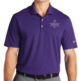 Nike Golf Dri Fit Purple Micro Pique Polo-Square and Compass with G