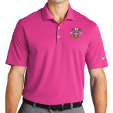 Nike Golf Dri Fit Fusion Pink Micro Pique Polo-Spes Mea In Deo Est